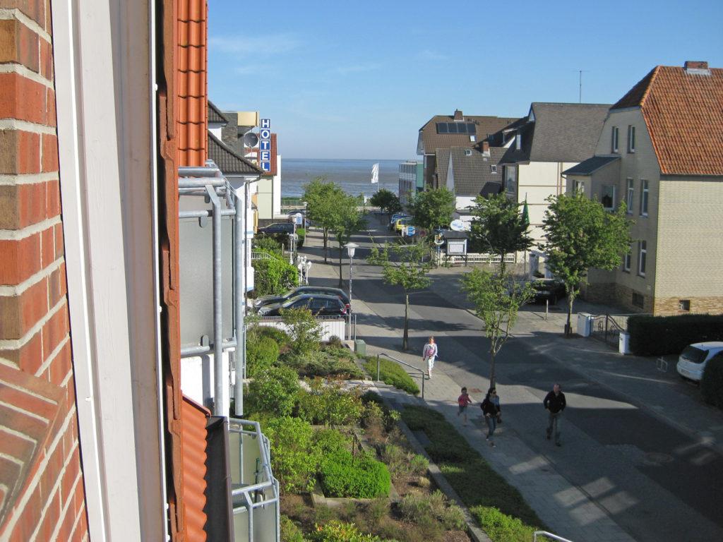 Ausblick zum Strand - Ferienwohnung Nordstrasse Cuxhaven